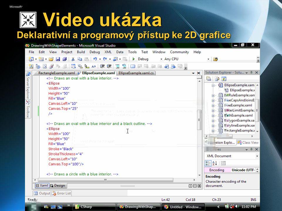 Video ukázka Deklarativní a programový přístup ke 2D grafice Video ukázka Deklarativní a programový přístup ke 2D grafice
