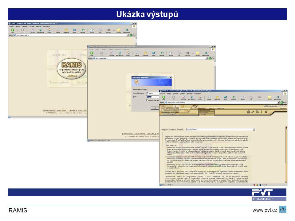 11 www.pvt.cz RAMIS Ukázka výstupů