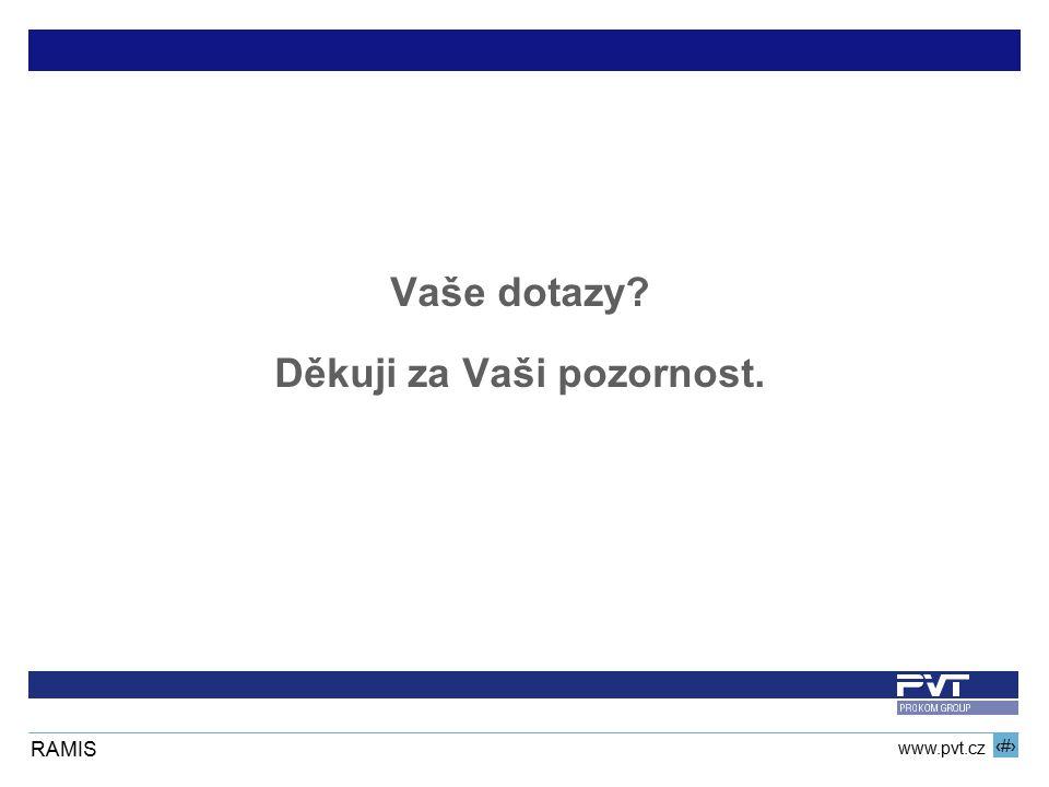 16 www.pvt.cz RAMIS Vaše dotazy? Děkuji za Vaši pozornost.