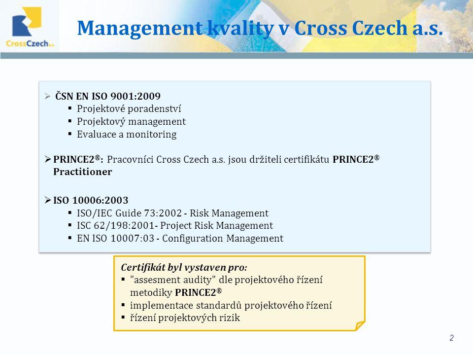 Management kvality v Cross Czech a.s.