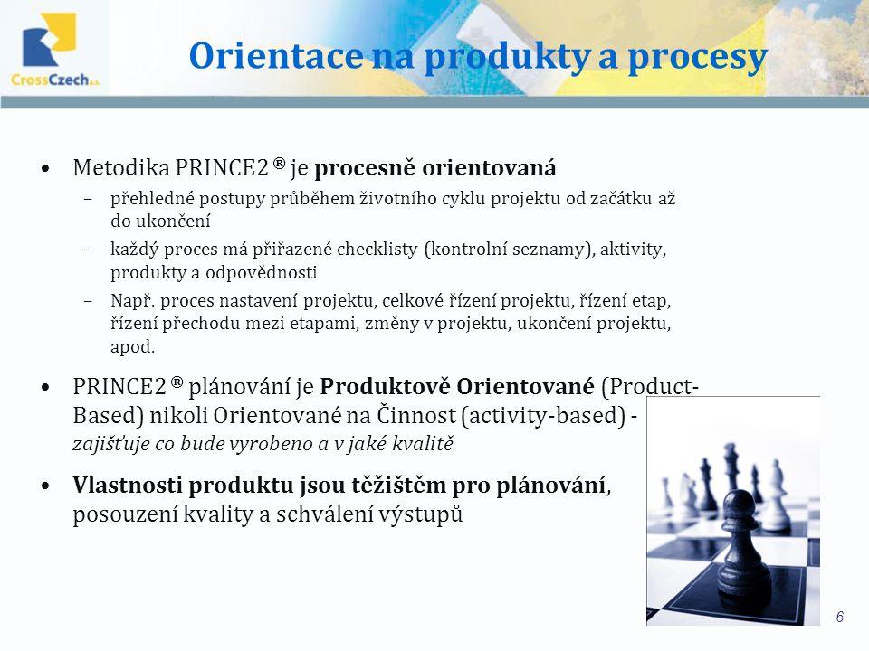 Hlavní principy Důraz na zdůvodnění realizace projektu Produktově orientovaný způsob plánování Rozdělení projektu na řiditelné a kontrolovatelné etapy (= rozhodovací body) Flexibilita a přizpůsobivost podmínkám projektu Jasně definovaný životní cyklus (trvání) projektu Definované a měřitelné produkty Koordinované postupy k dosažení/vytvoření produktů Předem definovaný rozsah zdrojů (čas, peníze, atd.) Organizační struktura s definovanými odpovědnostmi k řízení projektu 7 © Crown Copyright 2009.