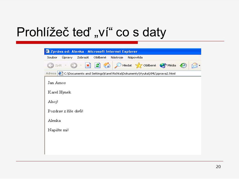 """20 Prohlížeč teď """"ví co s daty"""