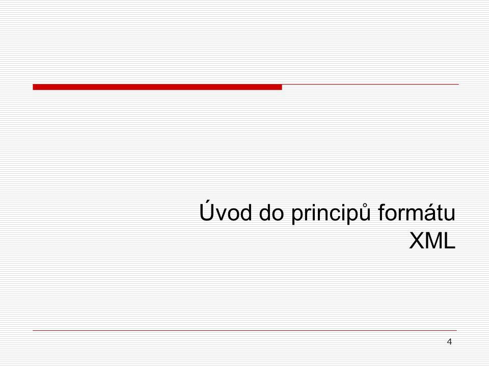 4 Úvod do principů formátu XML