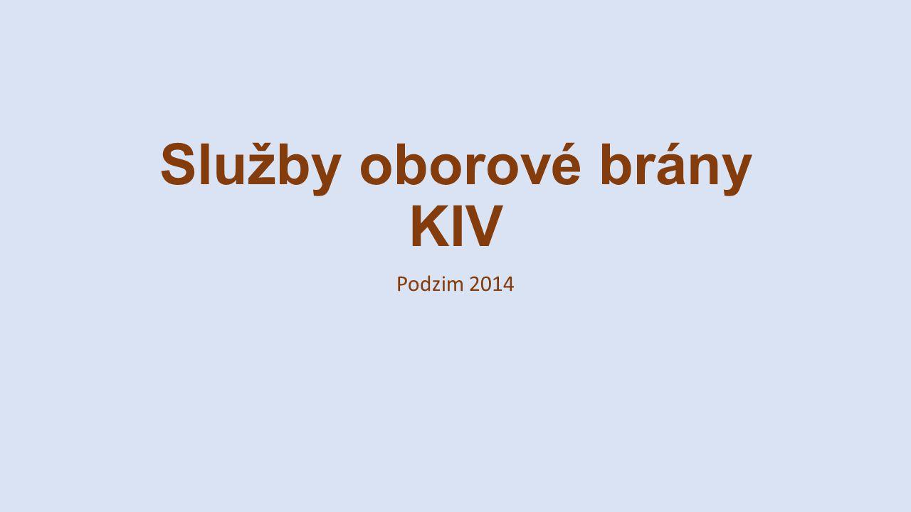 Služby oborové brány KIV Podzim 2014