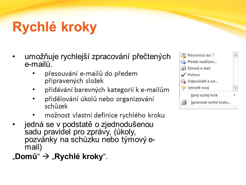 Click to edit headline title style Click to edit body copy. Rychlé kroky umožňuje rychlejší zpracování přečtených e-mailů. přesouvání e-mailů do přede