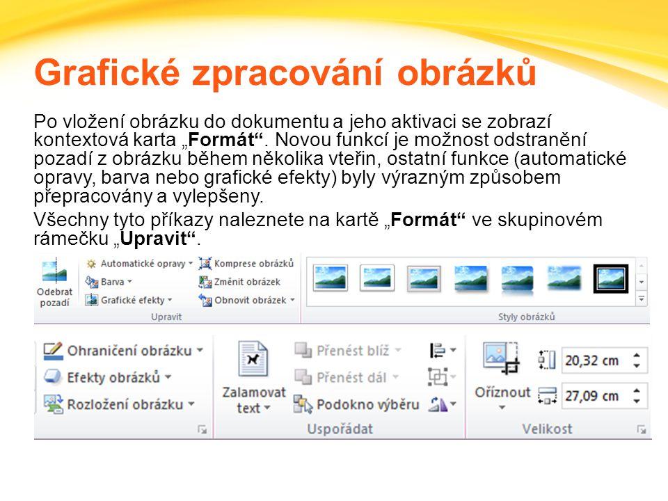 Click to edit headline title style Click to edit body copy. Grafické zpracování obrázků Po vložení obrázku do dokumentu a jeho aktivaci se zobrazí kon
