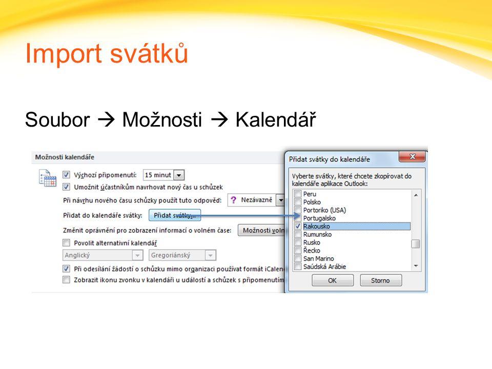 Click to edit headline title style Click to edit body copy. Import svátků Soubor  Možnosti  Kalendář