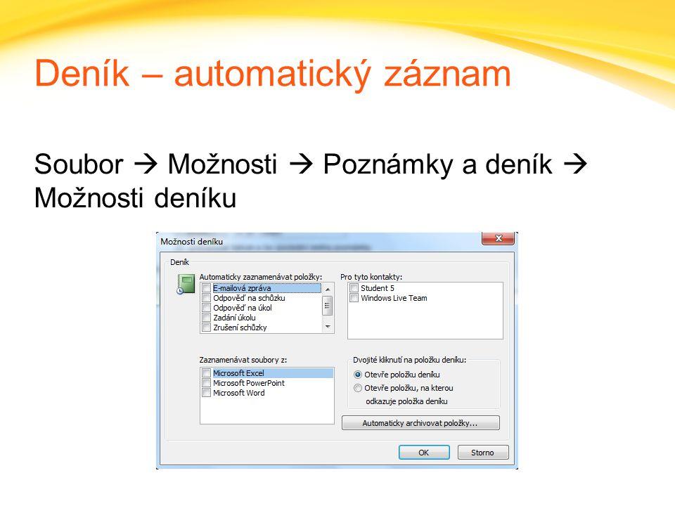 Click to edit headline title style Click to edit body copy. Deník – automatický záznam Soubor  Možnosti  Poznámky a deník  Možnosti deníku