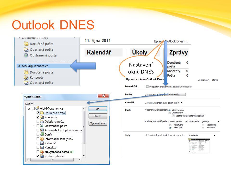 Click to edit headline title style Click to edit body copy. Outlook DNES Nastavení okna DNES