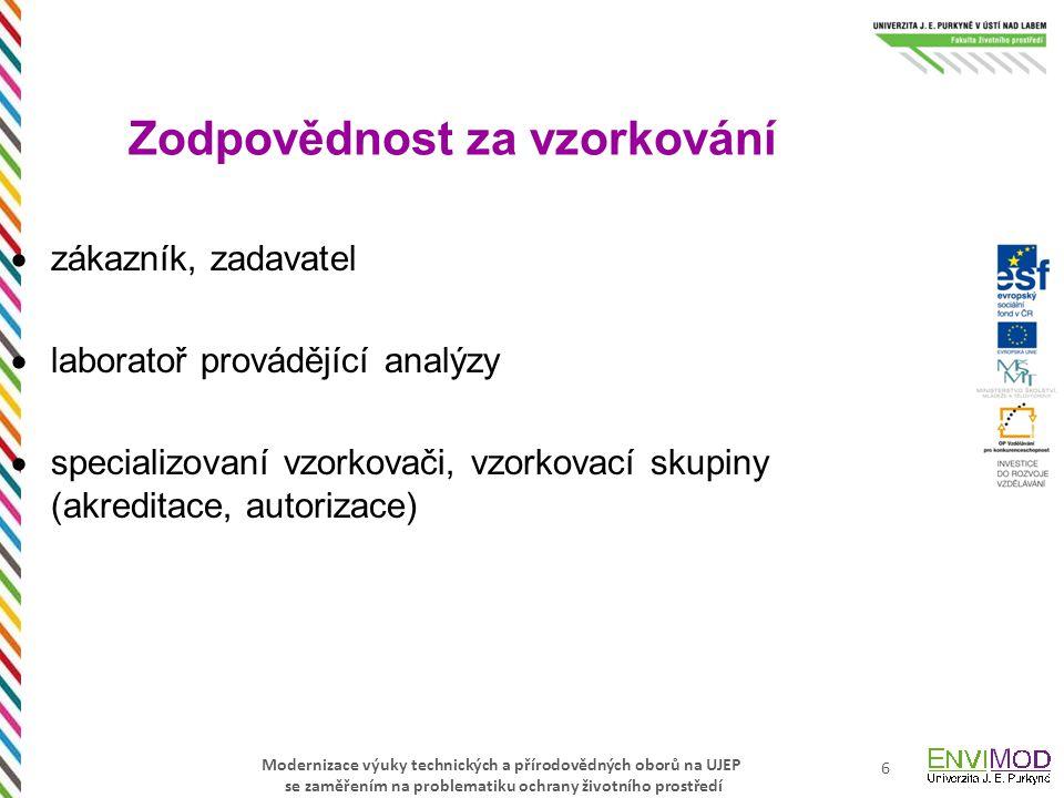 Modernizace výuky technických a přírodovědných oborů na UJEP se zaměřením na problematiku ochrany životního prostředí 27 Zákon č.