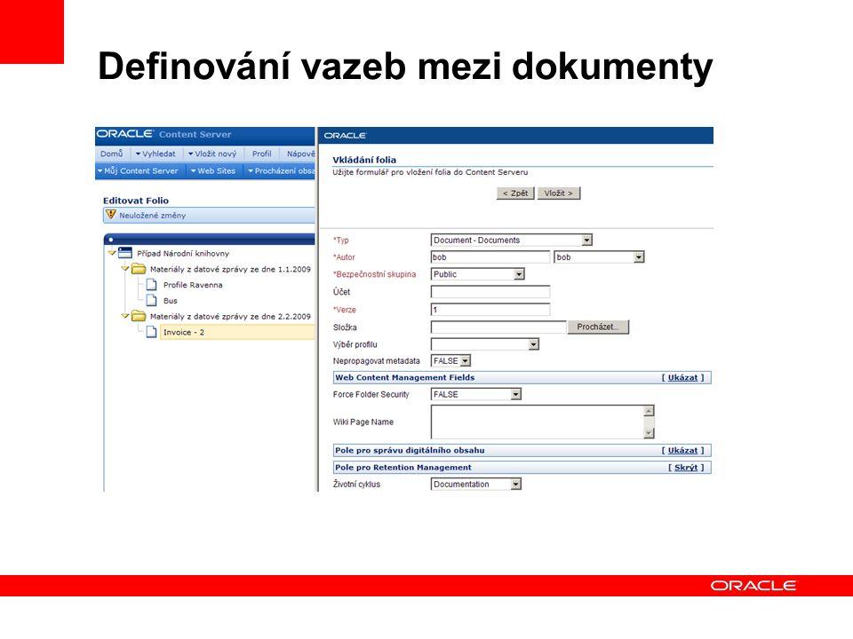 Definování vazeb mezi dokumenty