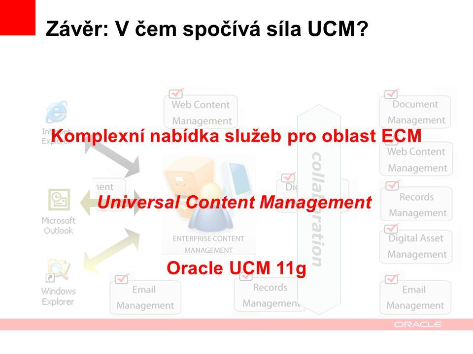 Závěr: V čem spočívá síla UCM.