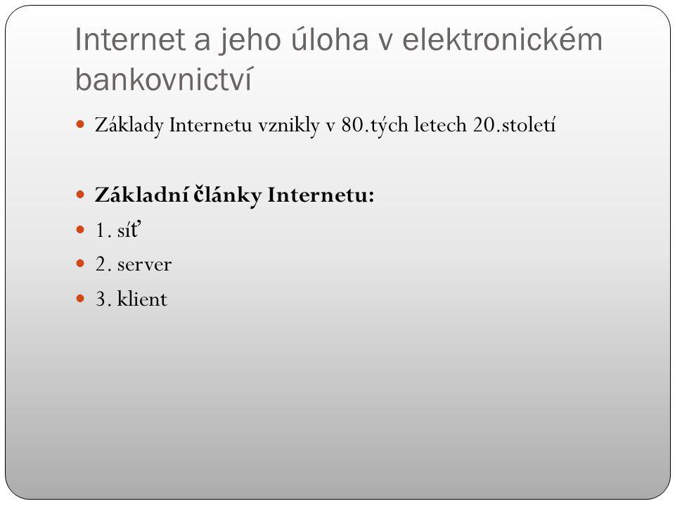 Klasifikace elektronických peněžních prostředků KritériumFormael. peněz Uložení el.peněz Založené na SW Založené na kartě Identifikace uživatele ident
