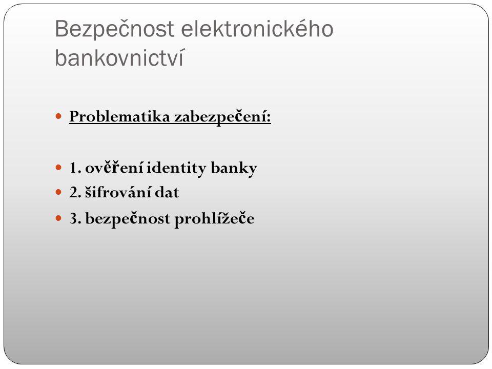 Nejčastější operace v ČR Informace o stavu ú č tu Tuzemský platební p ř íkaz