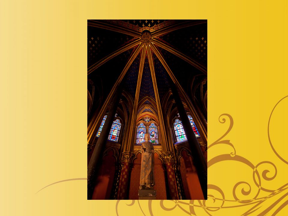 http://www.igougo.com/journal-j4008-Paris-my_Paris.html http://cs.wikipedia.org/wiki/Soubor:Sainte_Chapelle_-_Upper_level_1.jpg http://www.google.cz/imgres?q=sainte+chapelle&hl=cs&biw=1280&bih=568&gbv =2&tbm=isch&tbnid=E7O0- SzOWzHRtM:&imgrefurl=http://ironworkersminiatures.blogspot.com/2009_01_01 _archive.html&docid=MY6b2XtgKJT4oM&imgurl=http://2.bp.blogspot.com/_u5bG wDHRPI8/SWMm07xtJ7I/AAAAAAAABC8/vCenaWK5nAI/s400/ste-chapelle- above.jpg&w=313&h=400&ei=tZB0T- yiM_Ha4QTIweC0Dg&zoom=1&iact=hc&vpx=97&vpy=29&dur=469&hovh=254&ho vw=199&tx=146&ty=156&sig=104859897325644078973&page=2&tbnh=171&tbn w=128&start=22&ndsp=16&ved=1t:429,r:0,s:2222&ndsp=16&ved=1t:429,r:0,s:22 http://cs.wikipedia.org/wiki/Soubor:Szensapel.jpg http://en.wikipedia.org/wiki/File:Sainte_Chapelle_-_Rosace.jpg http://en.wikipedia.org/wiki/File:Sainte_Chapelle_-_Details_Vitrail_Mur_Sud.jpg http://en.wikipedia.org/wiki/File:SaintLouisSainteChapelle.jpg http://en.wikipedia.org/wiki/File:Sainte_Chapelle_- _Detail_Sculpture_Mur_Nord.jpg