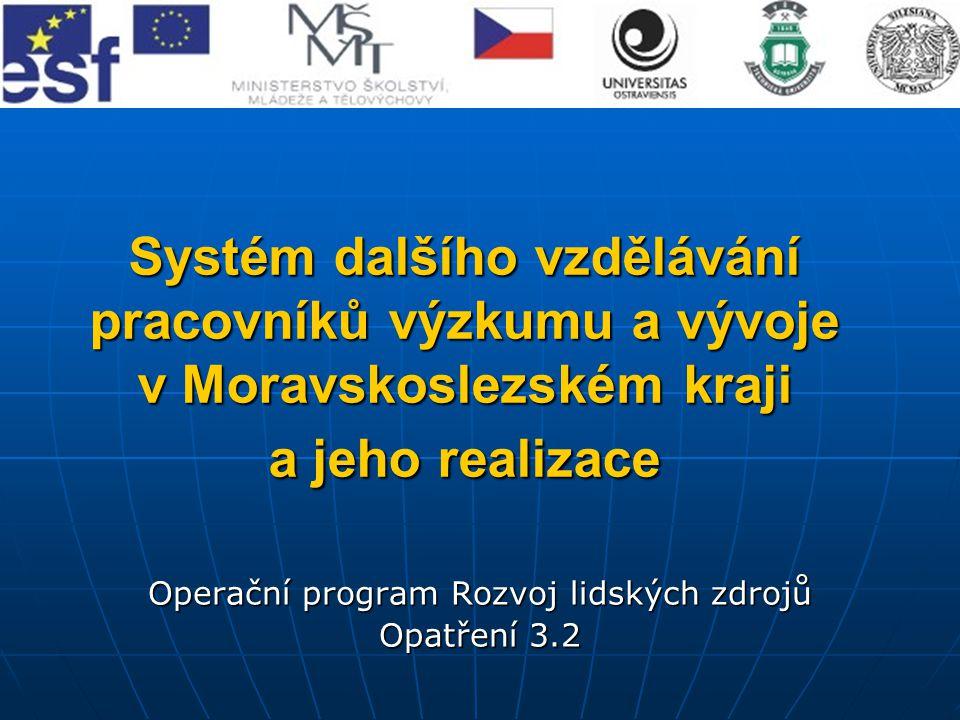 Systém dalšího vzdělávání pracovníků výzkumu a vývoje v Moravskoslezském kraji a jeho realizace Operační program Rozvoj lidských zdrojů Opatření 3.2