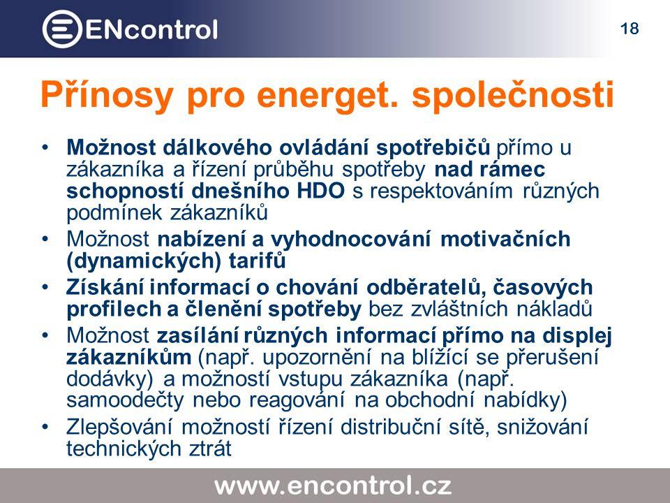 18 Přínosy pro energet.