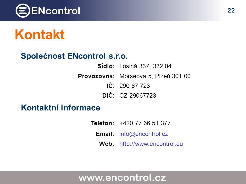 22 Kontakt Společnost ENcontrol s.r.o.