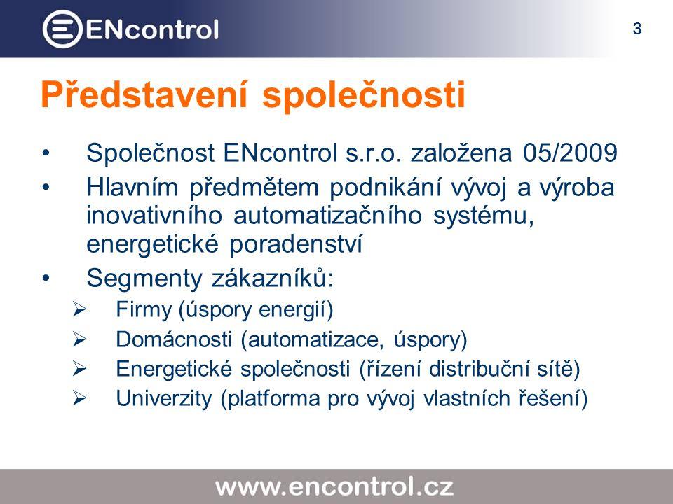 3 Představení společnosti Společnost ENcontrol s.r.o.