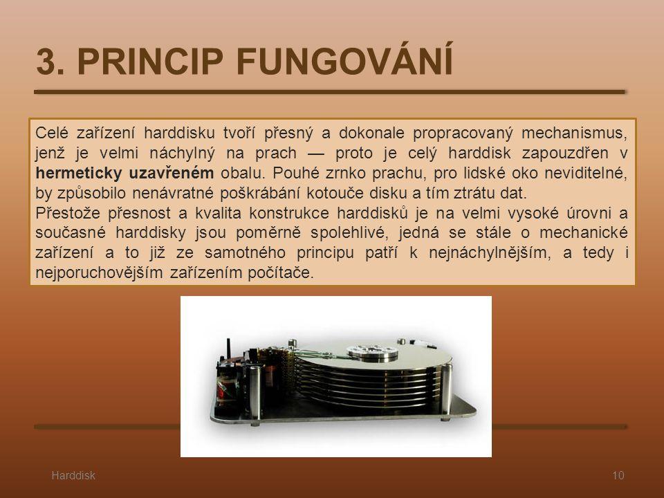 Celé zařízení harddisku tvoří přesný a dokonale propracovaný mechanismus, jenž je velmi náchylný na prach — proto je celý harddisk zapouzdřen v hermeticky uzavřeném obalu.