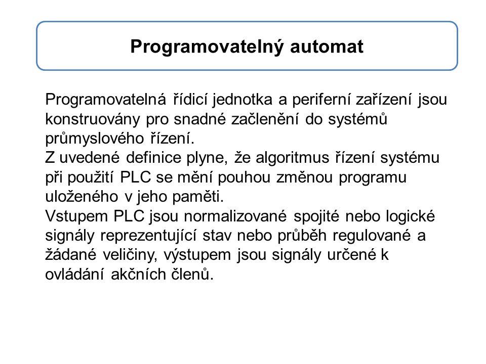 Programovatelná řídicí jednotka a periferní zařízení jsou konstruovány pro snadné začlenění do systémů průmyslového řízení. Z uvedené definice plyne,