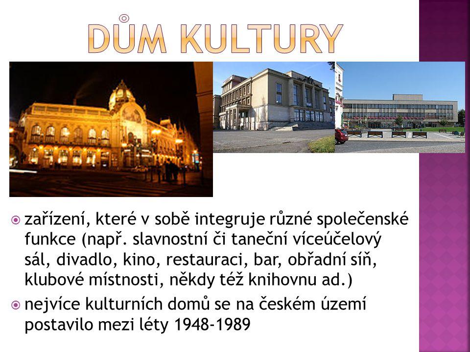  sál, většinou v budově přístupné veřejnosti, jehož hlavním účelem je provádění hudebních představení, zpravidla především koncertů klasické hudby  Rudolfinum - víceúčelové kulturní zařízení s koncertní síní a výstavními sály, budova patří České filharmonii