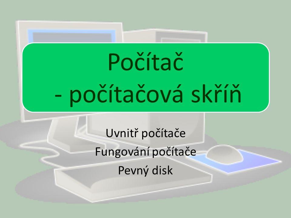 Počítač Uvnitř počítače Fungování počítače Pevný disk Počítač - počítačová skříň