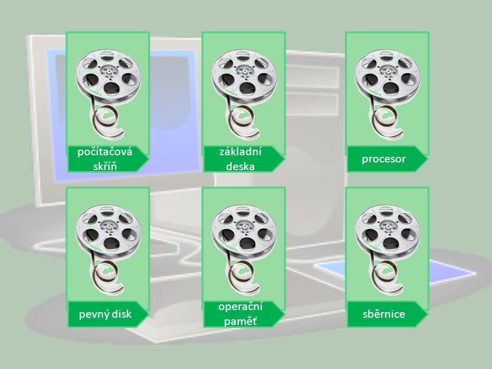 počítačová skříň základní deska procesorpevný disksběrnice operační paměť