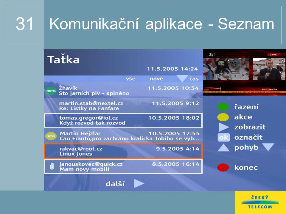 31 Komunikační aplikace - Seznam