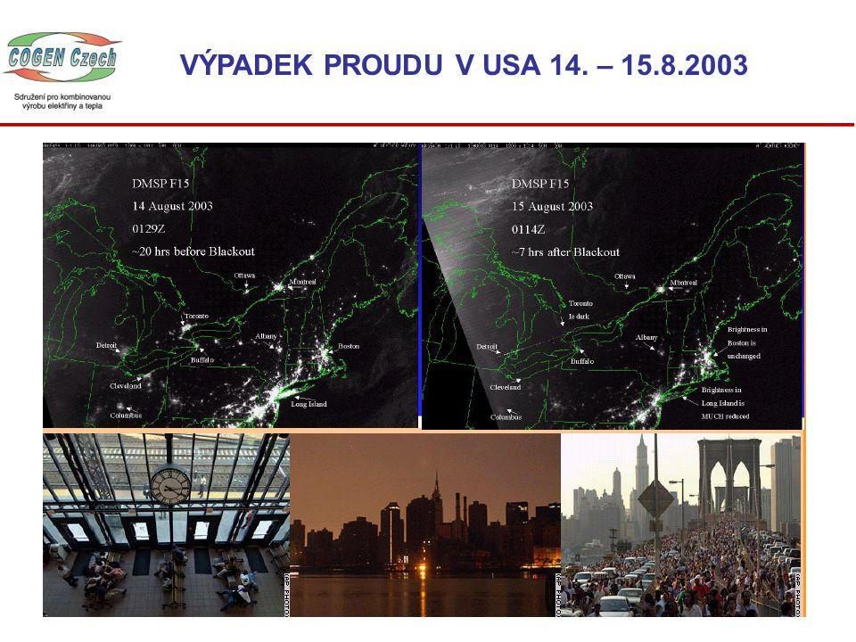 USA – srpen 2003 SPOLEHLIVÁ DODÁVKA JE JEDNÍM Z HLAVNÍCH CÍLŮ ENERGETIKŮ
