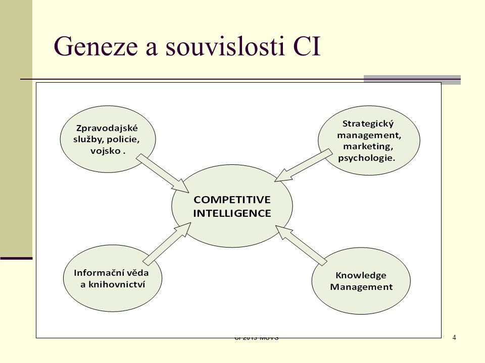Geneze a souvislosti CI CI 2013 MUVS4