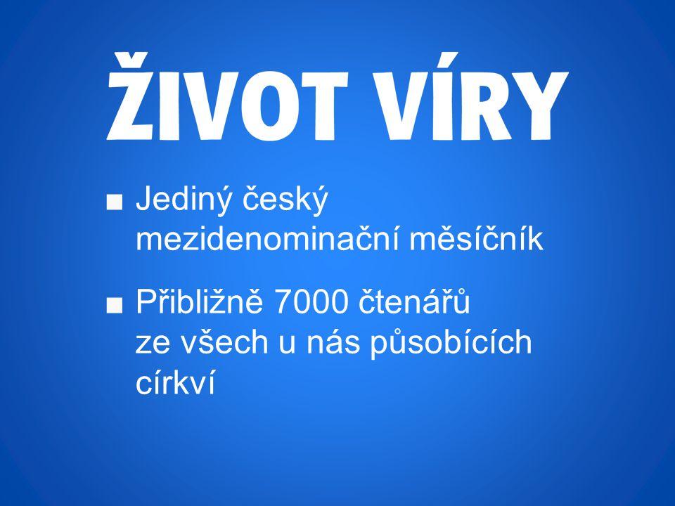 Proměna společnosti evangeliem Jak jej můžete objednat? ■www.zivotviry.cz ■připravený formulář