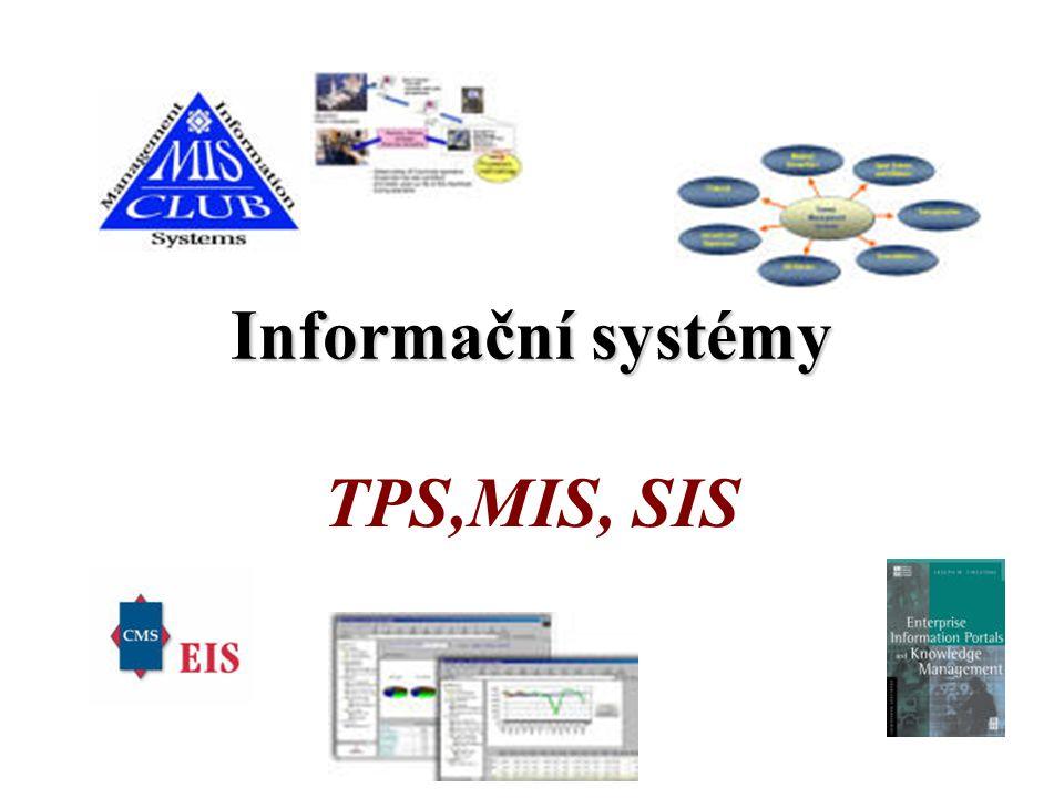 Informační systémy TPS,MIS, SIS