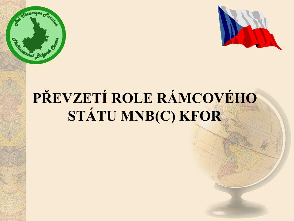 PŘEVZETÍ ROLE RÁMCOVÉHO STÁTU MNB(C) KFOR