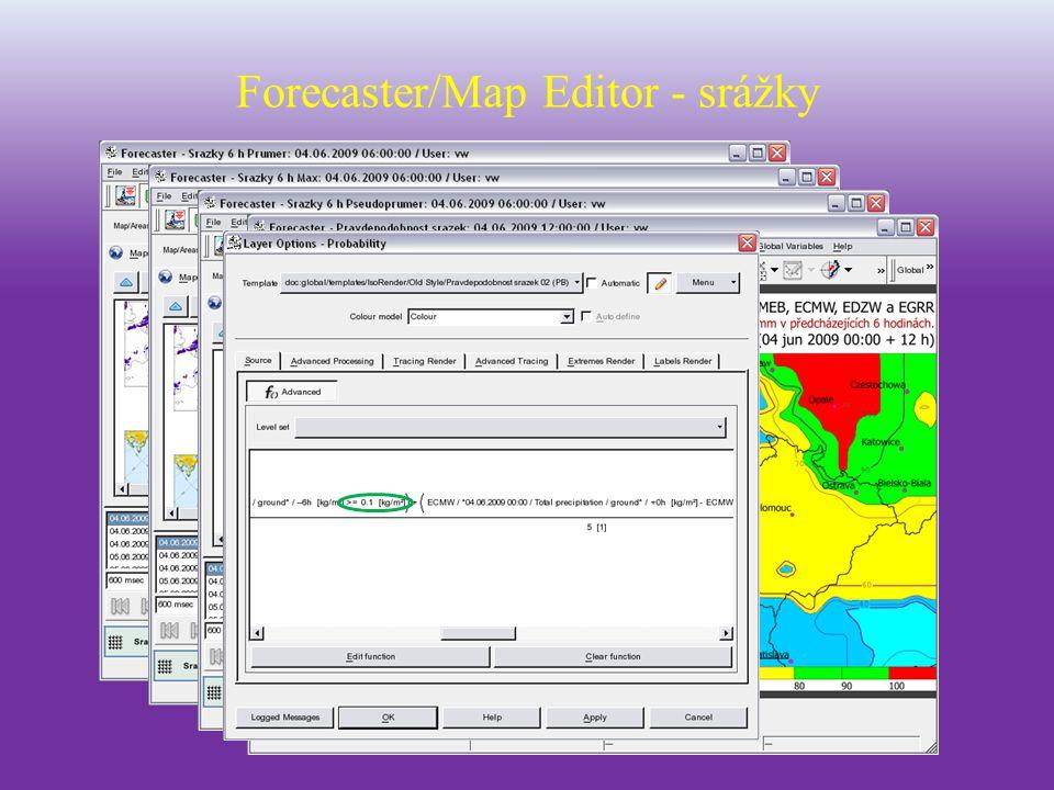 Station Editor přidávání stanic, editace vlastností stanic.