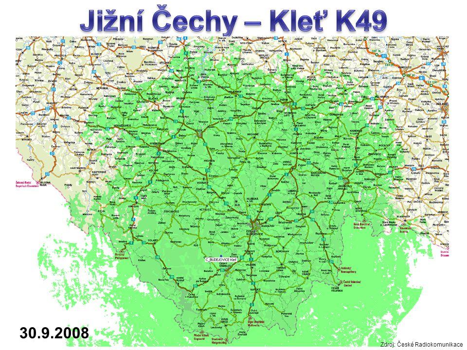 30.9.2008 Zdroj: České Radiokomunikace