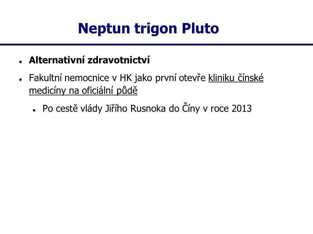 Neptun trigon Pluto Alternativní zdravotnictví Fakultní nemocnice v HK jako první otevře kliniku čínské medicíny na oficiální půdě Po cestě vlády Jiří