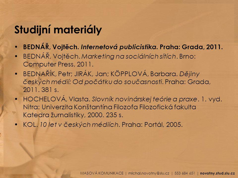 Studijní materiály KOL.