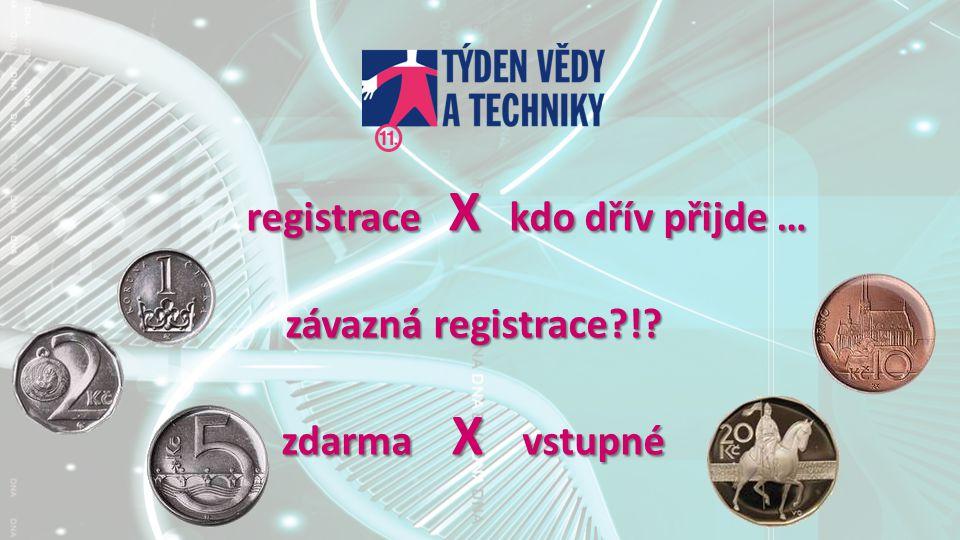registrace X kdo dřív přijde … registrace X kdo dřív přijde … závazná registrace?!.