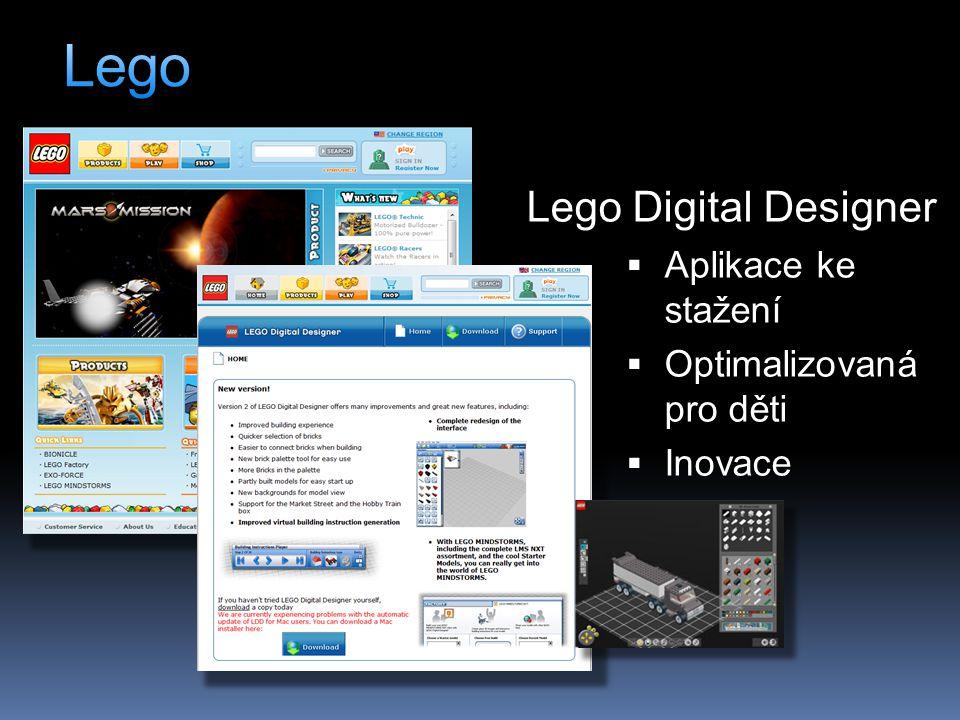 Lego Digital Designer  Aplikace ke stažení  Optimalizovaná pro děti  Inovace