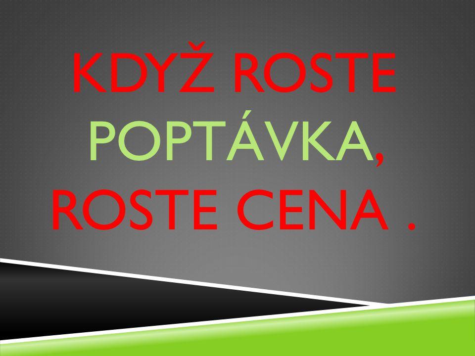 KDYŽ ROSTE POPTÁVKA, ROSTE CENA.
