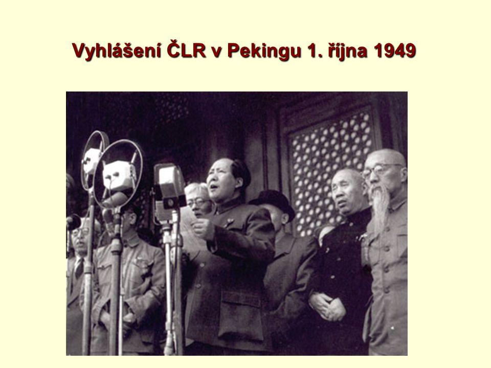 Vyhlášení ČLR v Pekingu 1. října 1949