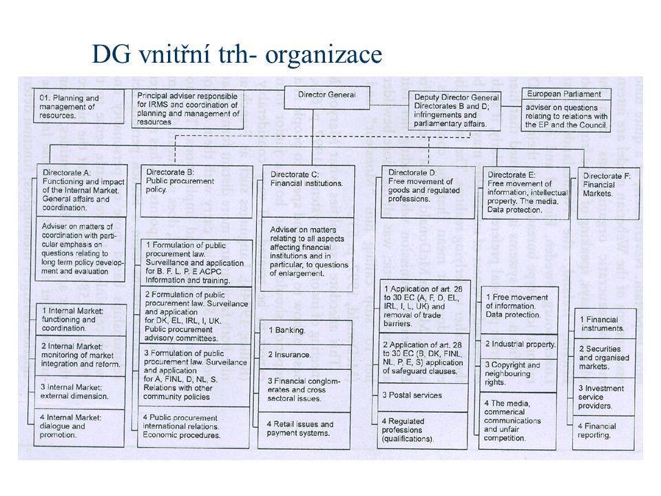 DG vnitřní trh- organizace