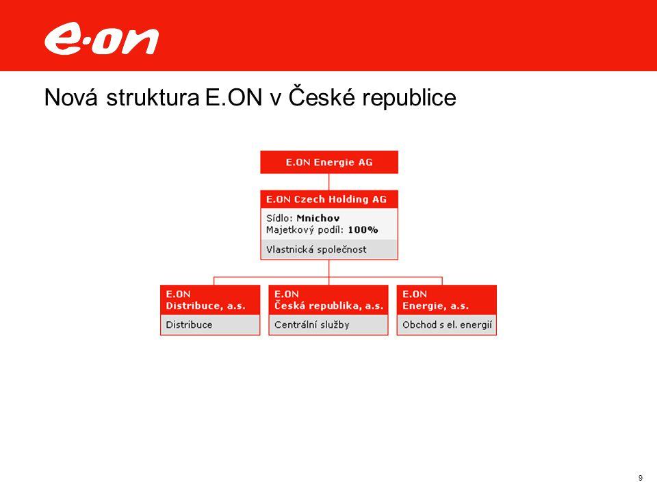 9 Nová struktura E.ON v České republice