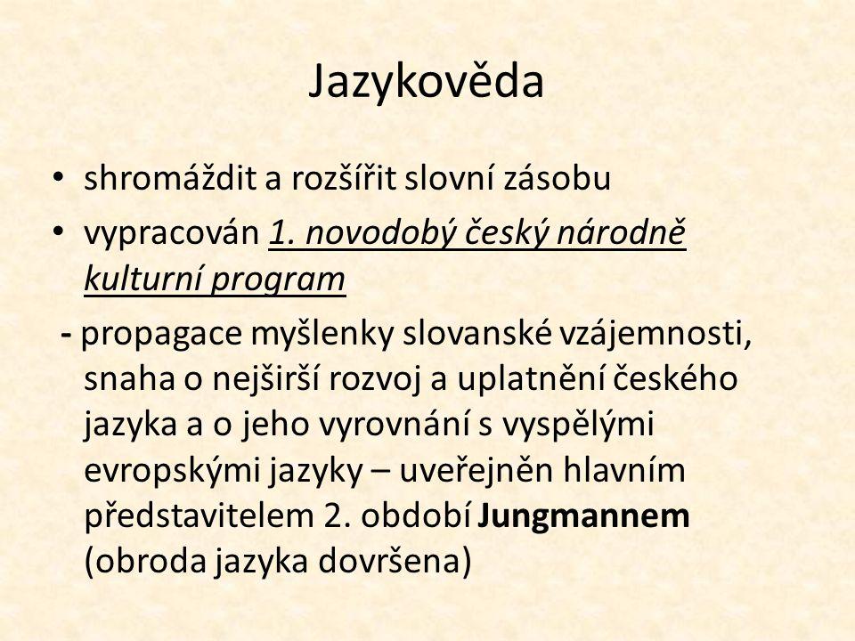 Jazykověda shromáždit a rozšířit slovní zásobu vypracován 1.