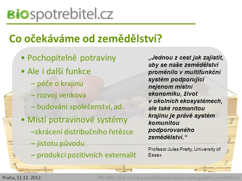 PRO-BIO LIGA ochrany spotřebitelů a přátel ekologického zemědělstvíPraha, 11.12. 2012