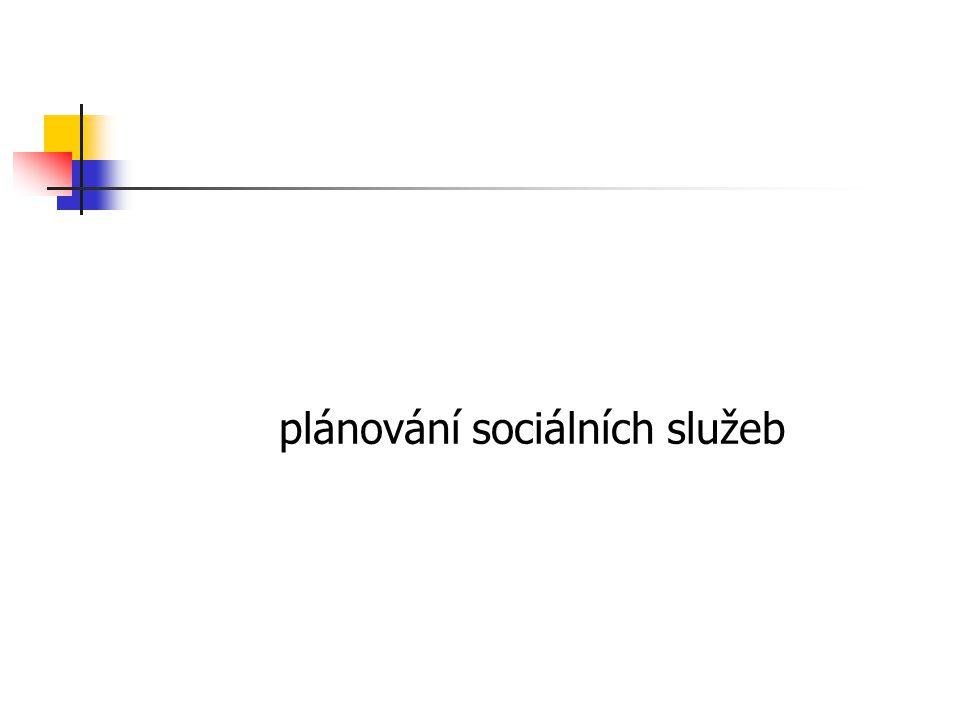 plánování sociálních služeb