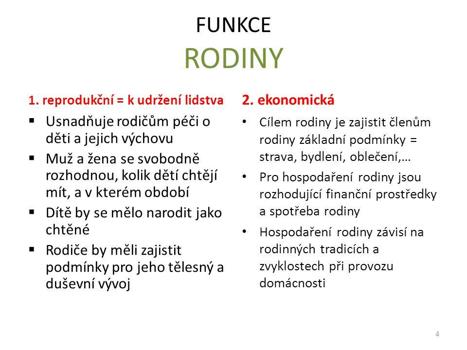 FUNKCE RODINY 1.