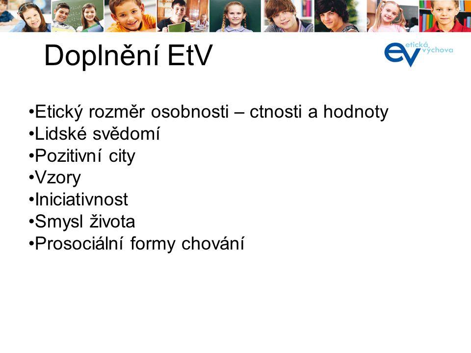í Cíl Výchovný program Výchovný styl Výchovné metody Čtyři složky EtV