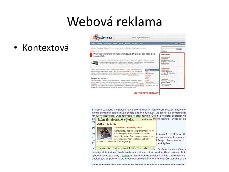 Webová reklama Kontextová